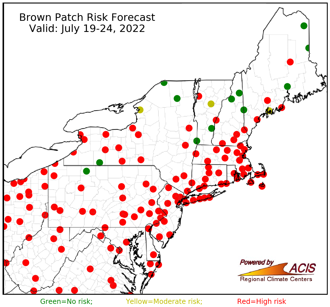 brown patch forecast