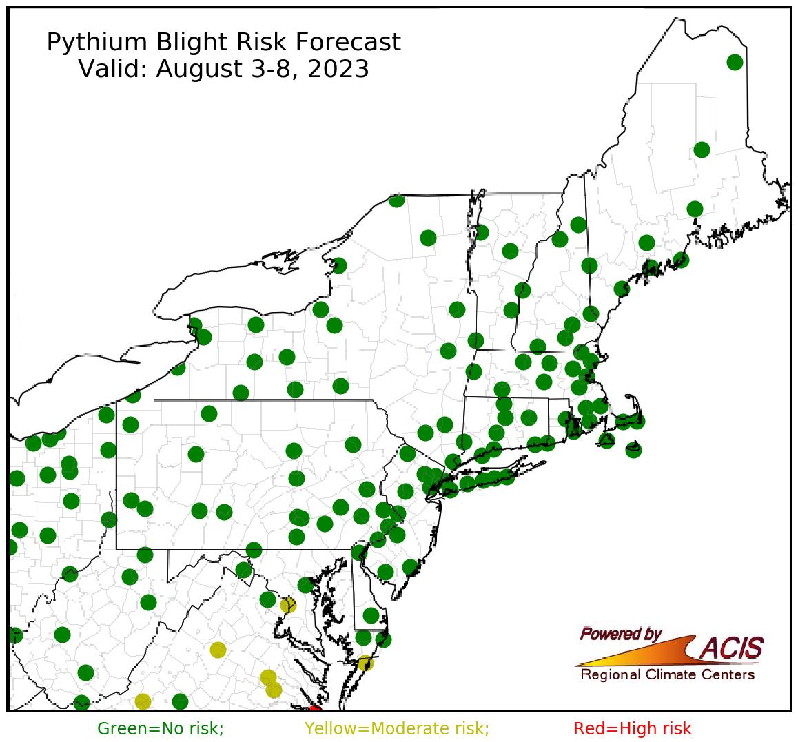 pythium blight forecast