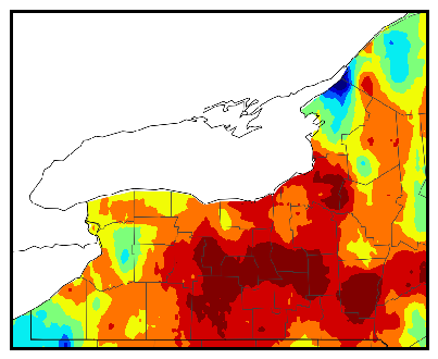 Western NY gdd difference map