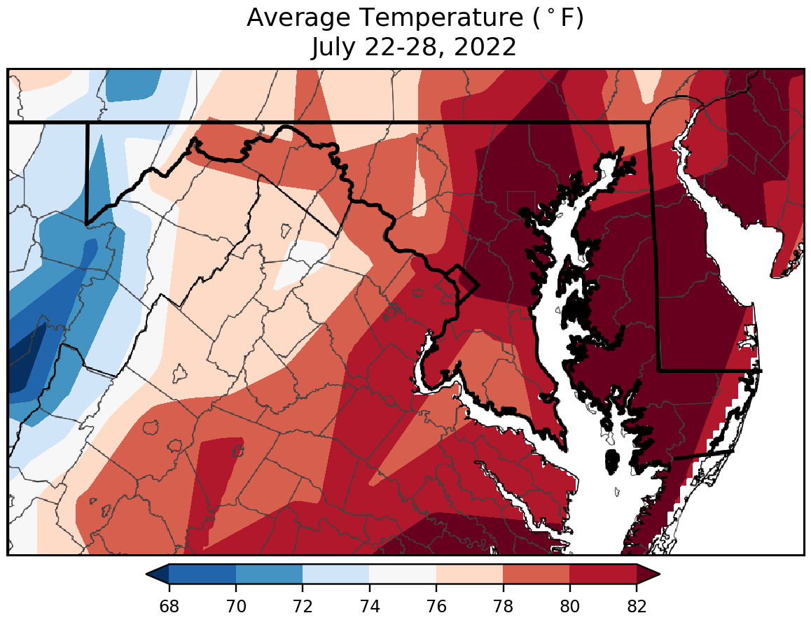 Maryland State Climatologist Office Temperature Maps