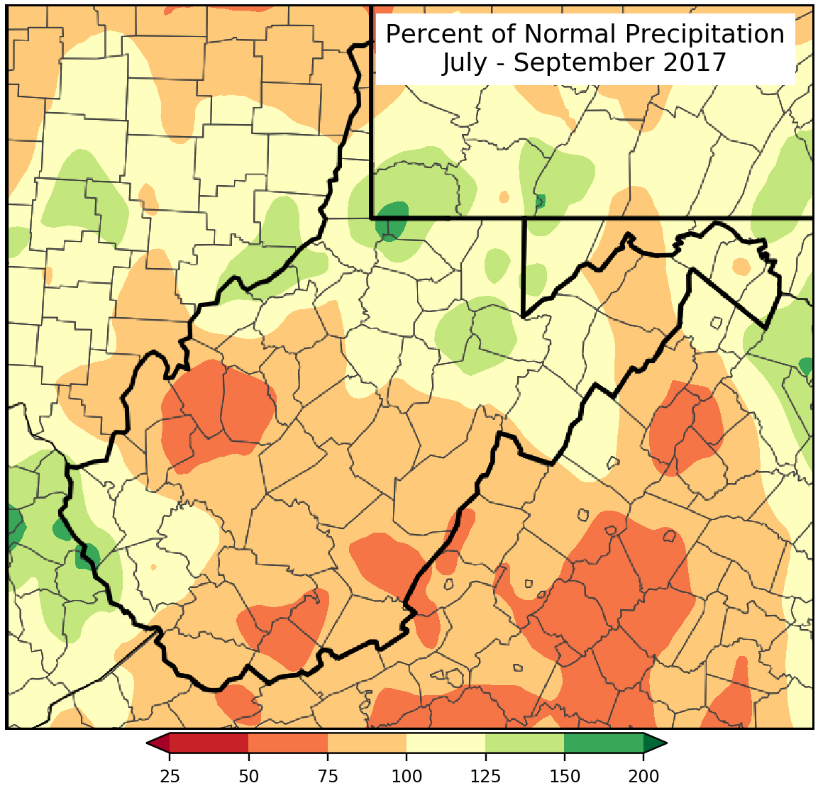 Last Three Months Percent of Normal