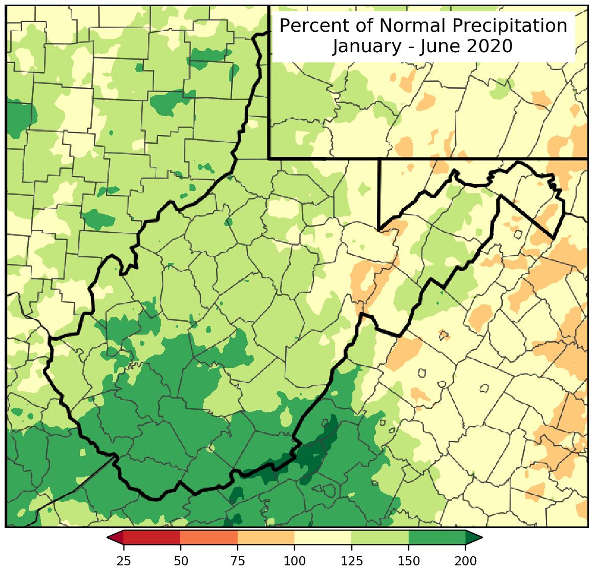 Last Six Months Percent of Normal