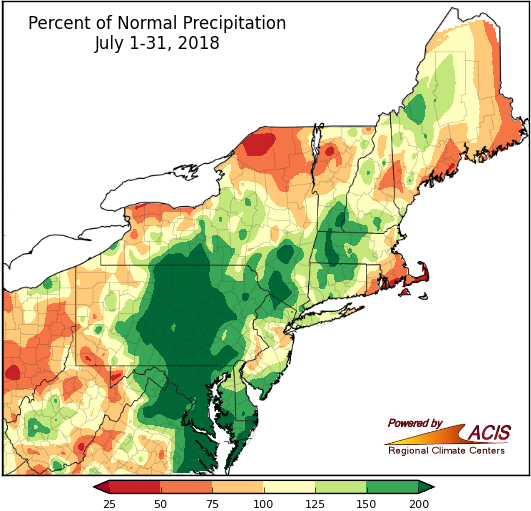 July precip map