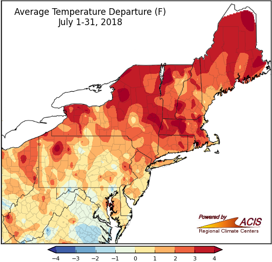 July temp map
