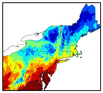 Northeast gdd accumulation map