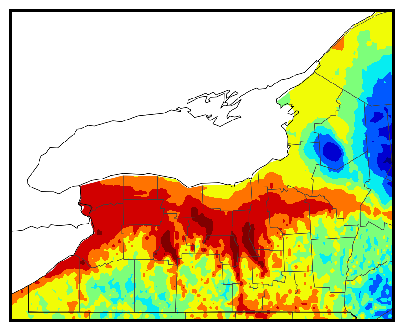 Western NY gdd accumulation map